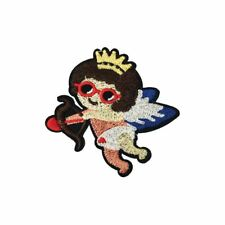 Little Girl Crown Cupid Angel Cherub (Iron On) Embroidery Applique Patch Badge