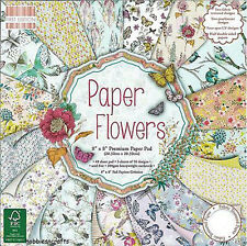 Dovecraft First Edition 8x8 Paper Pad - PAPER FLOWERS - Scrapbooking Cards