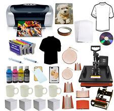 8in1 Heat Press Transfer,Epson Printer C88+,Sublimation Ink Refils,T-shirts,Mugs