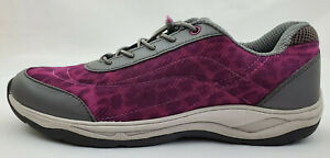 Vionic Neptune Womens Size 10 Orthotic Mesh Leopard Print Bungee Lace Sneaker