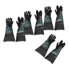 4Pair 60cm Durable LONG Rubber PVC Gloves for  Sandblasting