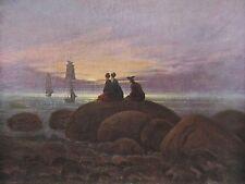 Caspar David Friedrich MONDAUFGANG AM MEERE Reproduktion print deutscher Maler