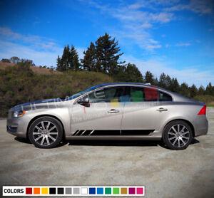 2x Side Stripe Decal Sticker Kit for Volvo S60 Front Light Led Hood 2015 - 2018