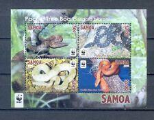 SAMOA 2015 BLOCK SNAKES  WWF   MNH