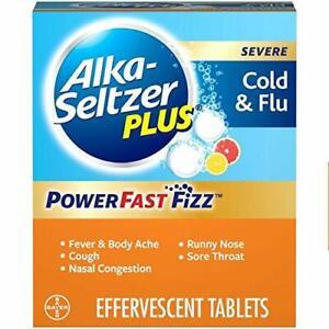 ALKA-SELTZER PLUS Severe Cold & Flu Powerfast Fizz Citrus Effervescent 20 Tablet
