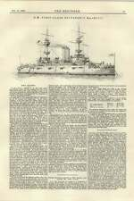 1895 First-class Battleship Majestic Superstructure Of Railway Bridges