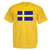 Sweden Swedish Flag Children's Kids T Shirt
