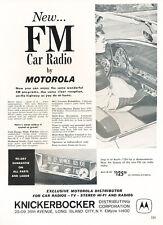 1960 Motorola FM Car Radio Stereo -  Classic Vintage Advertisement Ad J02