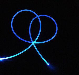 "5mm ""NEON GLOW"" fiber optic fiber lighting + free illuminator a $4.29 value"