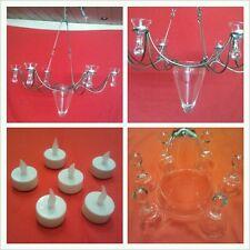 Wunderschöner Kronleuchter, Deckenlampe 6-flammig Lampe, Leuchter mit Gläsern