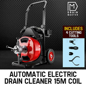 【EXTRA20%OFF】DRAIN MASTER Drain Cleaner Electric Eel Rigid Plumbing Sewerage