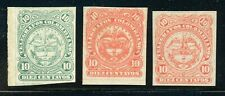COLOMBIA MH TELEGRAFOS TELEGRAPHS Selections: 10c Arms Assortment 1880s $$$
