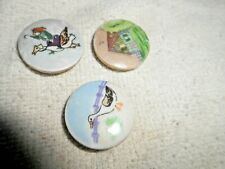 """VINTAGE HAND PAINTED SATSUMA PORCELAIN BUTTONS LOT OF 3  NICE 1"""""""