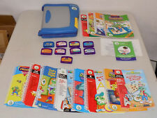 LEAPFROG Leap Pad Learning System Plus Writing w/9 Books & Cartridge & Backpack