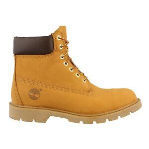 Mens Timberland 6 Inch Waterproof Leather Boot Wheat Nubuck 11 NEW