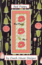 Coach House Designs Red Poppy Table Runner Quilt Pattern