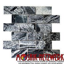 Mosaik Brick silbergrau poliert Quarzit 52x100x10 Art: 28-0202_A_f | 1qm