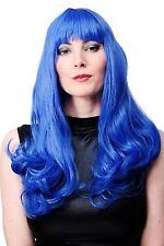 Perücke Faschingsperücke Damen Katy Pony Lang Blau Alien Disco WIG021-BLUE