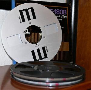 1 MAXELL Alu Tonbandspule / 26,5cm / NAB / 2 MAXELL  Tonbänder auf Revoxspulen