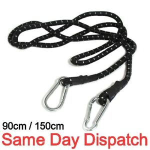 90/120/150cm Pack Bungee Cords with Karabiner Hook Cables Strap Bungie Elastic