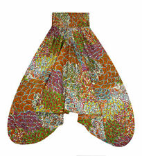 Farbenfrohe Pumphose Shalwar Größe 38-40 buntes Maori Muster aus INDIEN