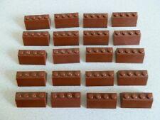 Lego 3037b # 20x Dachstein Schrägstein 2x4 reddish braun 7662