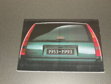 VOLVO breal 1953-1993 brochure dossier de presse media press kit - édition 1993