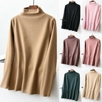 Women's Winter Plus Size Thermal Thickened Velvet Warm Turtle Neck Shirt Top