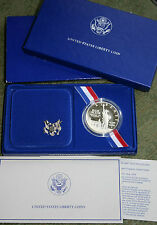 1986 Statue of Liberty Coin 90% Silver Dollar PROOF SOL Commemorative Box + COA