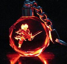 Dragon Ball Z JP Saiyajin Trunks Crystal Key Ring Chain LED 7 Light Pendant