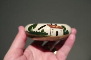 Vintage Torquay Pottery Motto Ware Ashtray / Trinket - A Gentle Reminder - Vgc