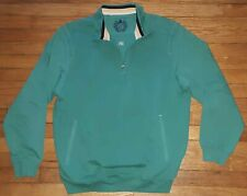 Cutter & Buck Jacket Pullover Half-zip L Solid Green Cotton c1778