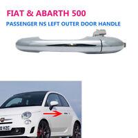 For Fiat 500 Near Side Passenger Side Offside Chrome Outer Door Handle 735592026