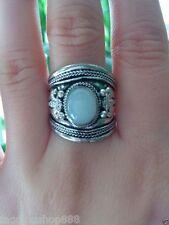 New style handmade Tibetan silver inlaid opal ring