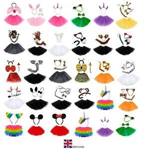 ANIMAL FANCY DRESS TUTU COSTUME Easter Party Accessory Kids Girls Halloween UK