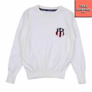 COTTON BELT Jumper Size 1Y / 12M Thin Knit Patched Long Sleeve