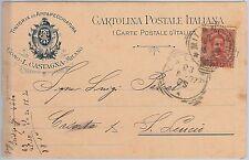REGNO Storia Postale: CARTOLINA pubblicitaria da MILANO annullo tondoquadro 1897