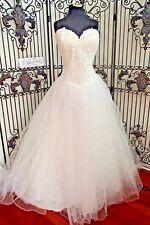 1022w SWEETHEART 6016 IVORY SILVER SZ 18 $1107 WEDDING GOWN DRESS
