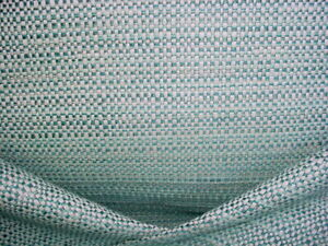 KRAVET DESIGN 34683 TURQUOISE BLUE SILVER TWEED WEAVE UPHOLSTERY FABRIC