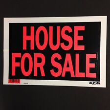 "House For Sale - Flexible  Plastic Sign - 12"" x 8""  ( Lot of 3 ) Brand New"