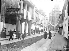 Street City Village Britain Animated Negative Photo Glass Photo - An. 1910 1920