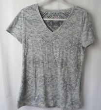 Mossimo T Shirt Short Sleeve V Neck Lot of 2 Muted Gray & Coral Size L  #7175