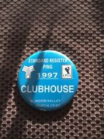 GOLF PING-1997 STANDARD REGISTER OPEN MOON VALLEY LPGA BADGE PIN..GOOD CONDITION
