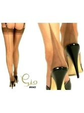 GIO Fully Fashioned Point Heel Seamed Stockings Bronze 10.5 L Large imperfect