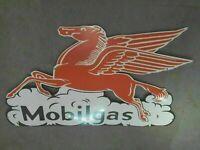"Porcelain Mobilgas Enamel Sign Size 25"" X 42"" Inches"