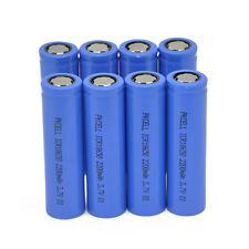 8 x PKCELL 18650 2200mAh 3.7V Rechargeable Li-ion Battery for Flashlight Torch