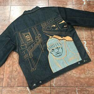 Men's Studio by Southpole Raw Black Casual Denim Jacket