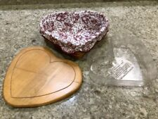Longaberger Heart Basket Sweet Heart Liner Protector Lid Combo