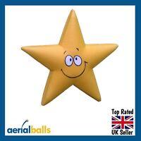 SALE ...Cute Smiley Star Car Aerial Ball Antenna Topper or Dashboard Wobbler