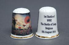 1st Battle of WW1 The Battle of Leige Belgium China Thimble B/140